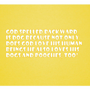 Dogs and God