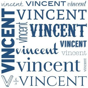 Personalized Vincent in Blue
