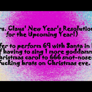 Mrs. Claus' Naughty New Year's Resolution