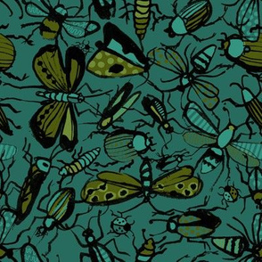 insects - green