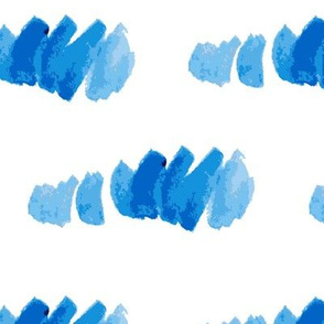 Blue water-colour strokes