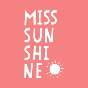 miss sunshine white on coral mod baby » plush + pillows // fat quarter
