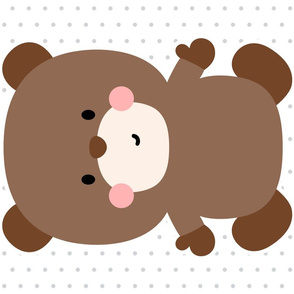 bear brown front mod baby » plush + pillows // fat quarter