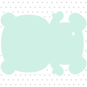 bear mint back mod baby » plush + pillows // fat quarter