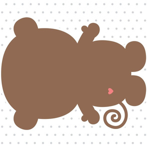 monkey brown back mod baby » plush + pillows // fat quarter