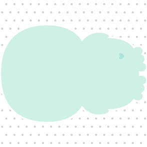 penguin mint back mod baby » plush + pillows // fat quarter
