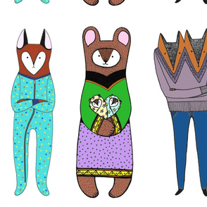 3 Critters in Clothes