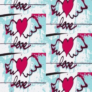 Red Hearts on the Wings of Love