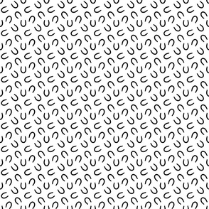 Tiny horseshoe prints - white