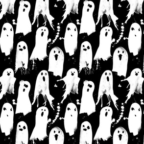 Halloween-not so scary splattered ghosts