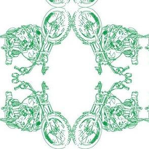 Damask - Moto Damask in  Green