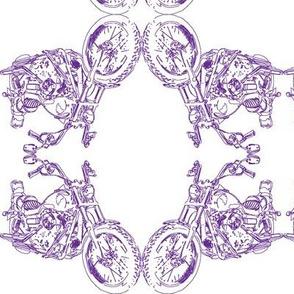 Damask - Moto Damask in Purple