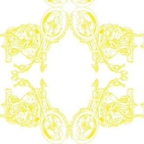 Damask - Moto Damask in Yellow