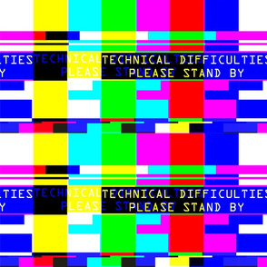 television tv test bars broadcasting smpte pal video signals colorful rainbow stripes bars multi colors retro pop art transmission transmit analogue patterns technical difficulties please stand by glitches poor distortion noisy noise static errors broken