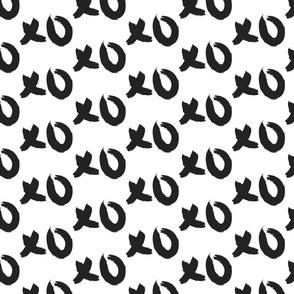 XOXO black and white