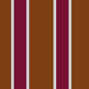 Whiskey and Burgundy  Stripes