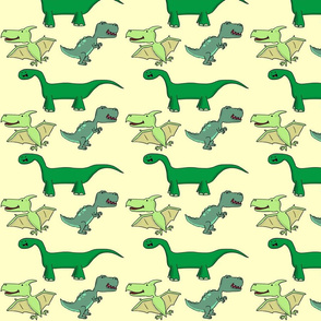 Dinosaurs yellow background