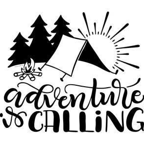 "Adventure is calling - 36x42""  horizontal artwork"