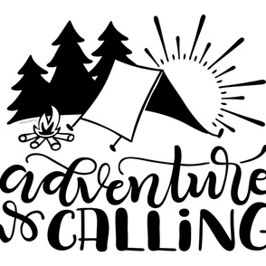 "Adventure is calling - (56x36"") 1 yard set up - Minky - Fleece - Organic cotton"