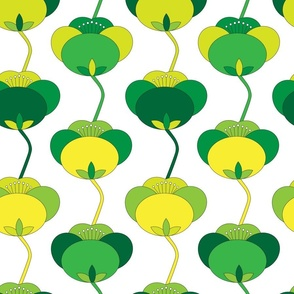 Spring Green Tulip Floral Large_Miss Chiff Designs