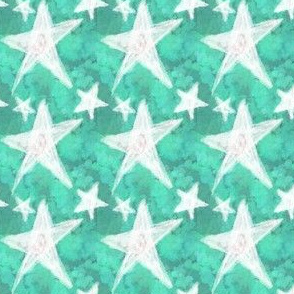 Chalk Stars, Green and White