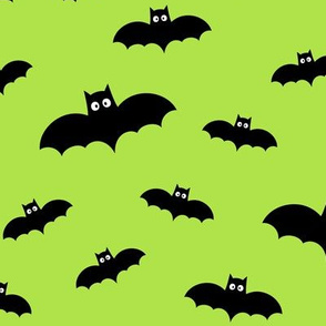 bats on lime green » halloween