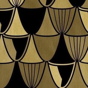 gold art deco goblets
