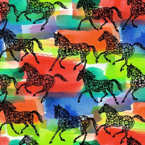 horse stampede two