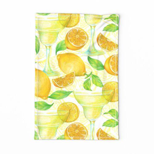 cocktails with lemon