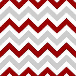 Crimson and grey team color Chevron