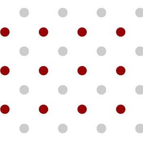 Crimson and grey team color White Dot