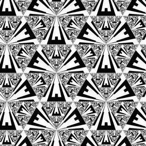 Black and White Sierpinski triangles ©2011 Gingezel™ Inc.