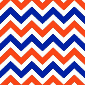 Royal blue and orange team color chevron