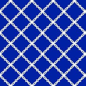 Royal blue and orange team color  Royal blue Diamond Trellis
