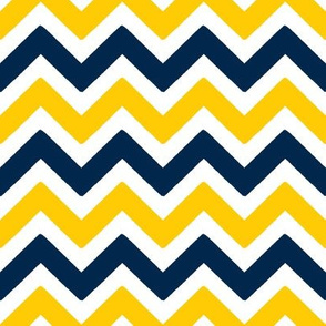 Yellow and blue team color Chevron