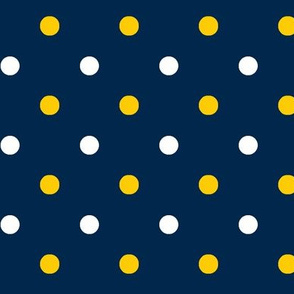 Yellow and blue team color Blue Dot