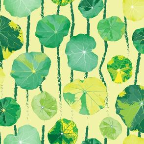Leaf Lilypad Frog Leaves Spring Green Floral LARGE_Miss Chiff Designs