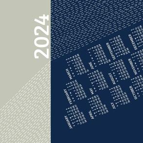 2021 Calendar, Sunday / Light Refraction