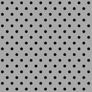 halloween » dotty black on light slate grey - monochrome