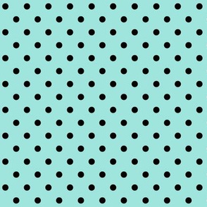 halloween » dotty black on light baby teal blue