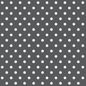 halloween » dotty white on dark grey - monochrome