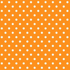 halloween » dotty white on orange