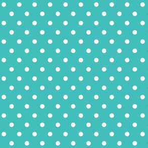 halloween » dotty white on teal blue