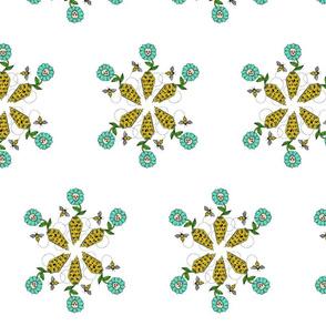 Honeycomb Flower: White Variant