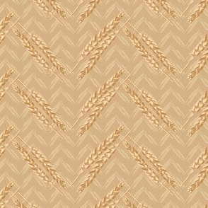 15-04B Chevron Gold Tan Cream Wheat Small || Food bread Midwest Home Decor_Miss Chiff Designs