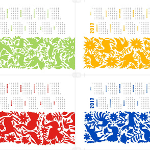otomi calendar towel - full yard