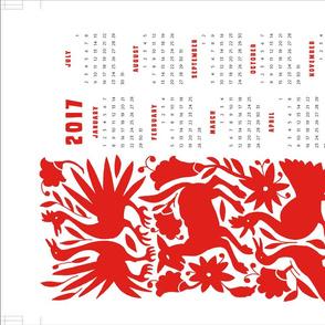 otomi calendar towel - full yard