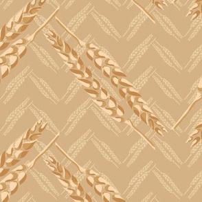 Chevron Wheat Jumbo Scale || Bread Food Farm Yellow Farmer Gold Large_Miss Chiff Designs