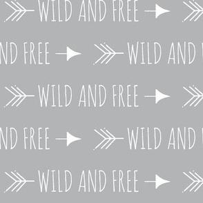 Wild and free arrows - grey/white