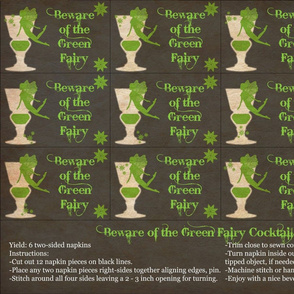 Beware of the Green Fairy